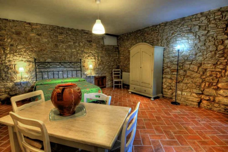 9 self catering holiday apartments with typical Tuscan architecture