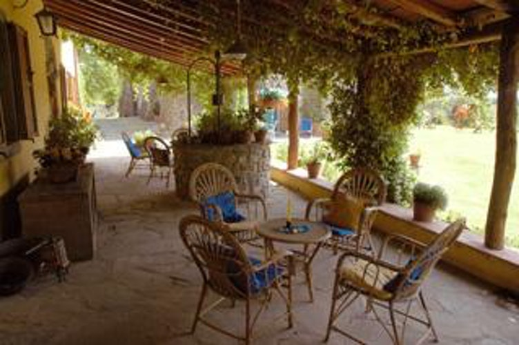An inviting Terrace for everyone at Holiday Apartments at Agriturismo