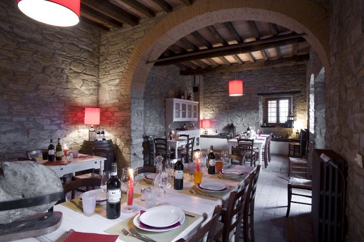Tuscan restaurant of the agriturismo