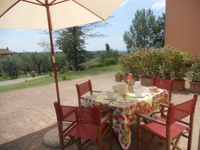 Corte in Poggio offers several out door garden areas for your pleasure