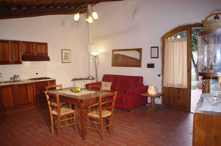 At Agriturismo Escaia all apartments with fully furnished kitchen
