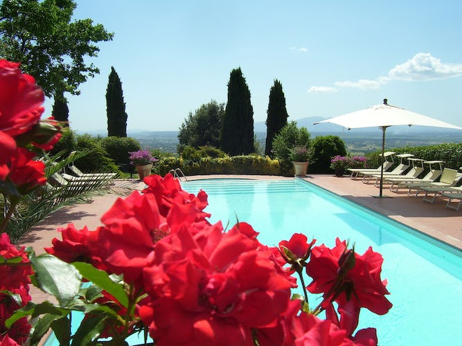 Agriturismo Farmhouse Casa Italia - Panorama from Pool