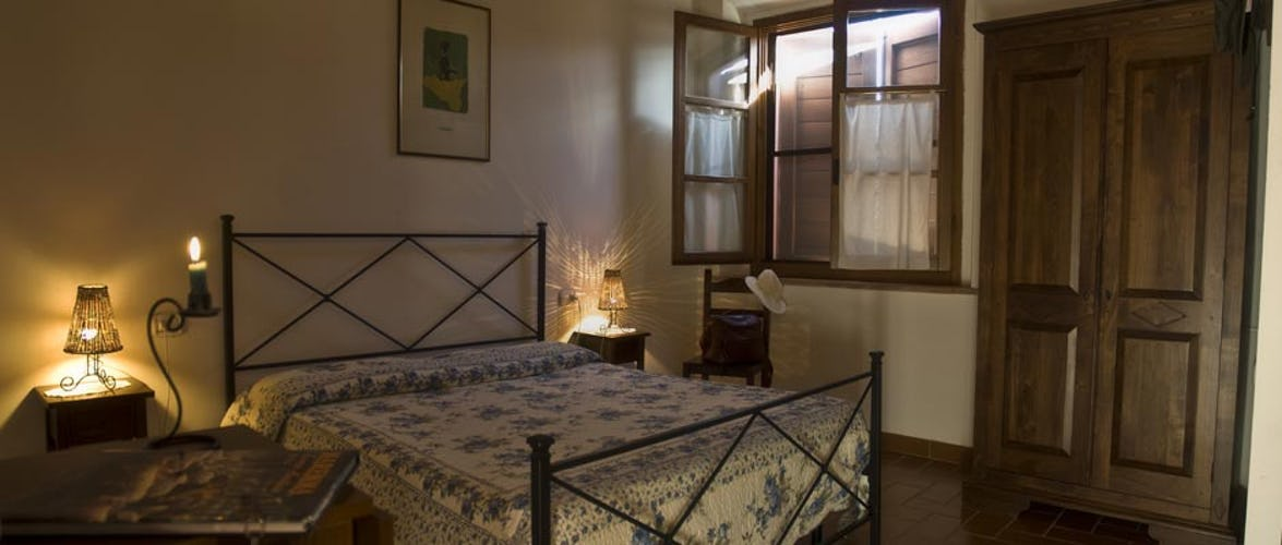 Typical Tuscan styled accommodations at Agriturismo Melograno