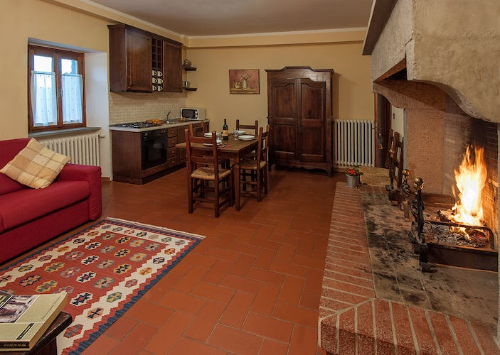 Agriturismo La Collina Delle Stelle - vacation apartment with fireplace