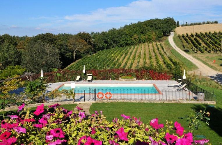 Pool at  Lucciolaia Agriturismo