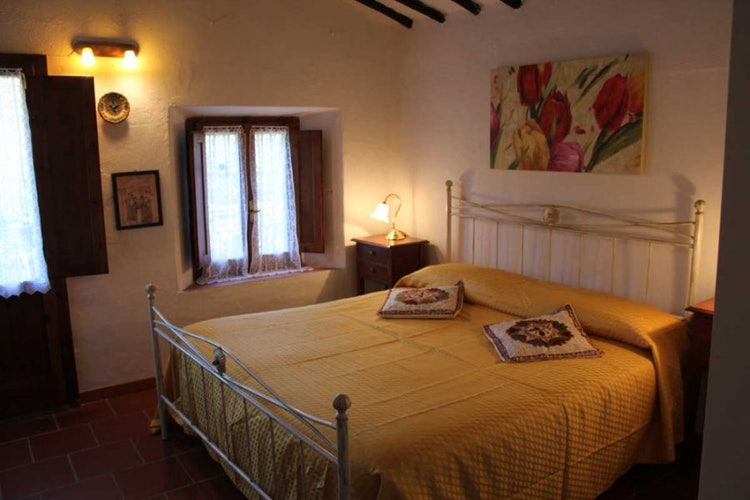Bedroom looking onto the surrounding hills