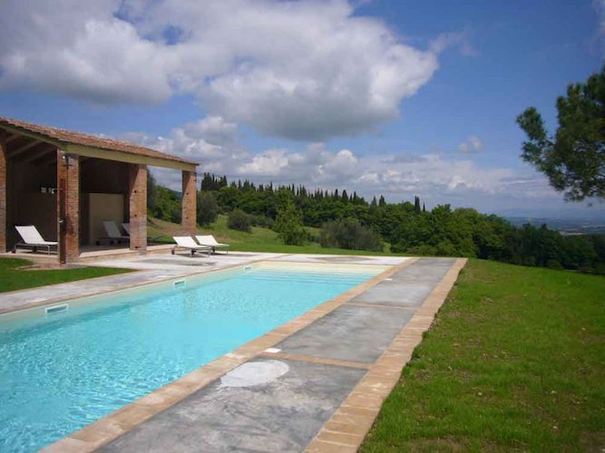 Each villa has a private pool, expect for Montefreddo who shares