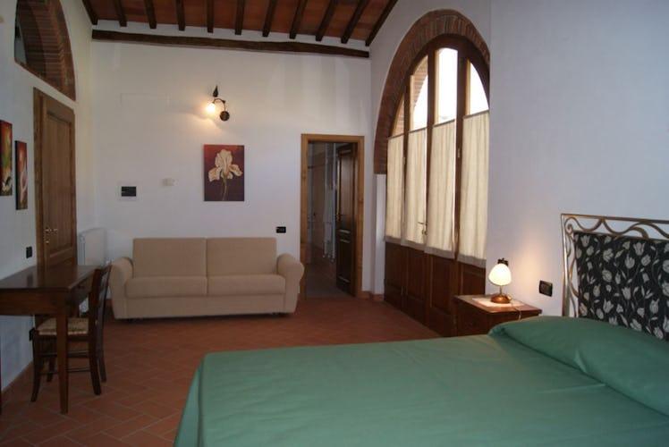 Uno degli appartamenti in stile tipico toscano