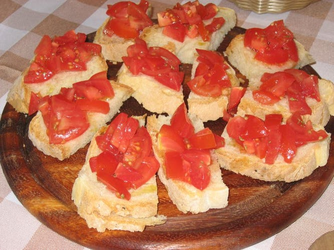 Bruschetta all' Agriturismo Villani Vicino Firenze