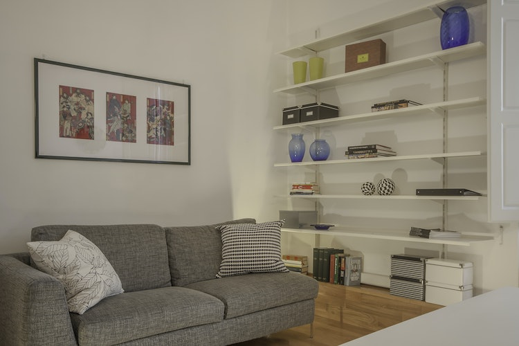 Alain DesignApartmentFlorence - Living room with a double sofa bed