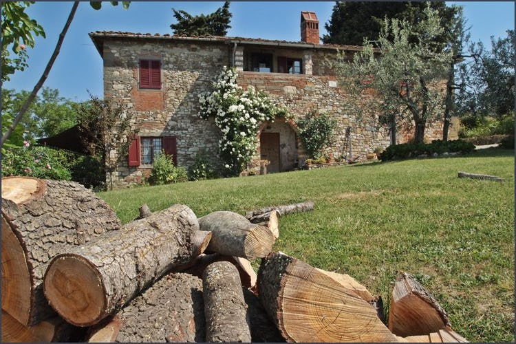 Eco-sostenibilità con riscaldamento a legna e coltivazione biologica