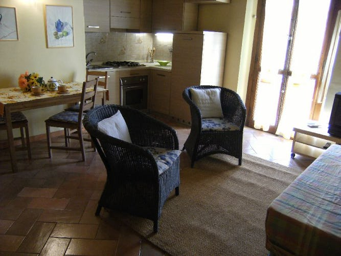 Two room apartment in Florence, access to the terrace