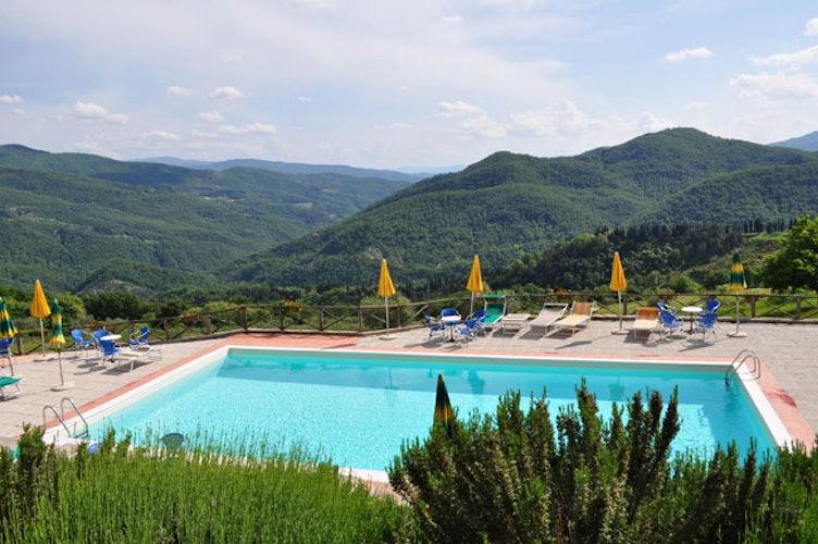 Il panorama visto dalla piscina