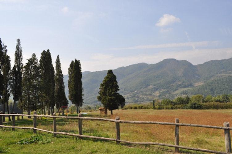 Vista delle valli circostanti dall'agriturismo
