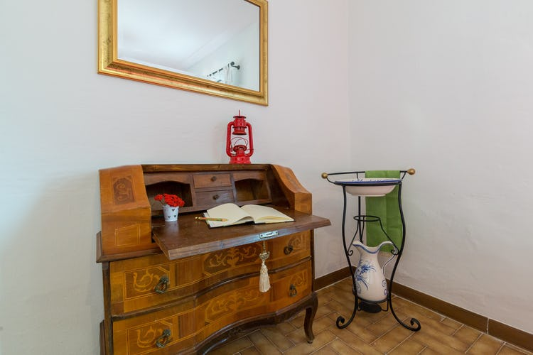 ART REBUS Tower historic vacation rental decor brings together antiques and vibrant colors