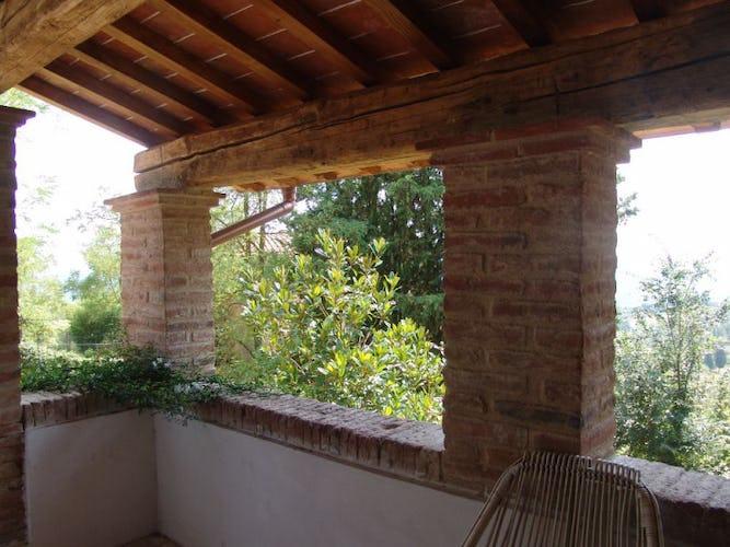 La veranda esterna per godere della magnifica vista