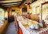 La sala da pranzo dove viene servita la colazione preparata da Heidi