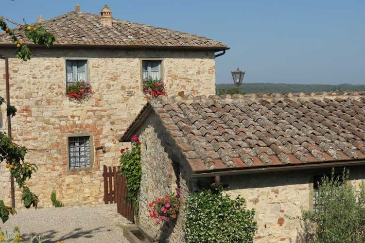 Borgo Argenina is a restructured Tuscan hamlet