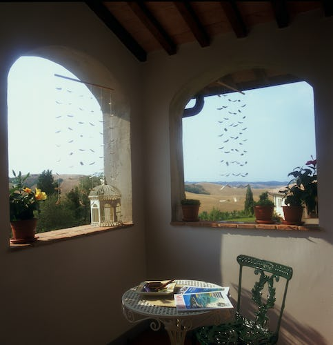 Borgo della Meliana: panoramic views from the balcony