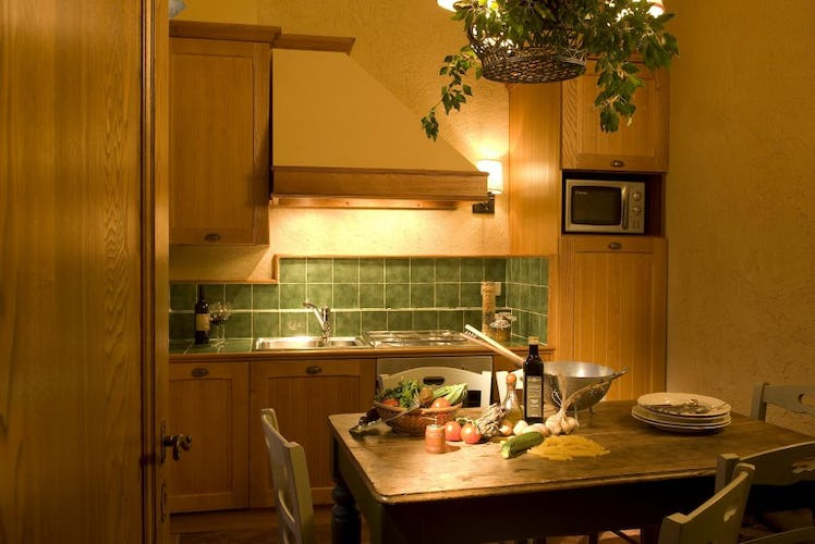 Self catering apartments include a fully equipped kitchen area