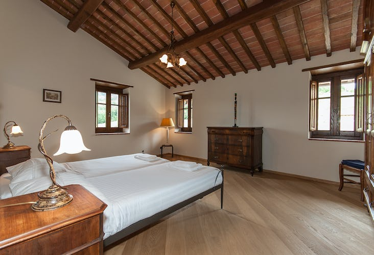 Borgo La Casa in Tuscany, Casa Girasole offers antique furniture and an elegant decor
