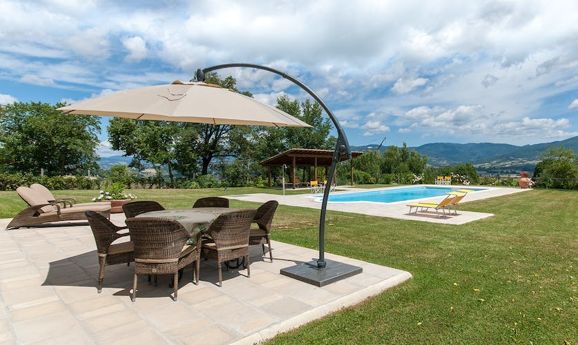 Borgo La Casa, vacation villa rental, comfortable pool furniture
