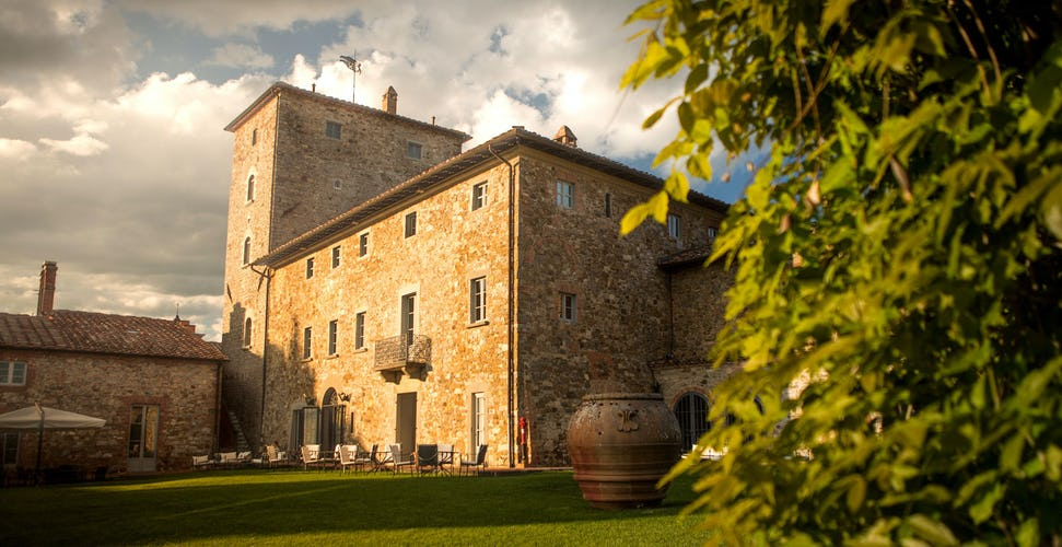 The medieval tower is at the heart of Borgo Scopeto