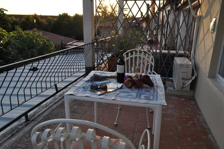 Private terrace for an evening sunset with wine & cheese
