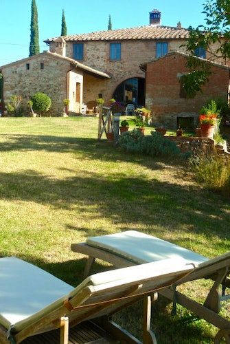 Comfortable garden furnishing and children's out door games available