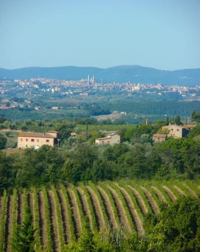 Breath taking views of Siena and Tuscany from Casa Cernano