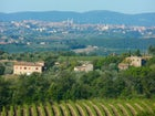 Breath taking views of Siena and Tuscany from Casa Cernano