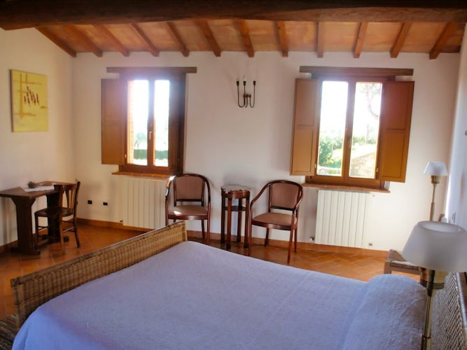 The bedrooms are luminous and filled with sunshine