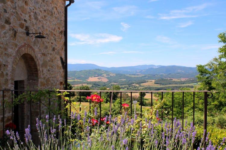 Casa Podere Monti - Panorama con vista su San Gimignano