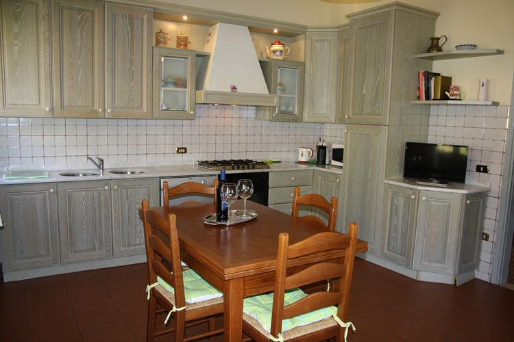 Casa Vacanze i Cipressi and holiday apartments: well stocked kitchens