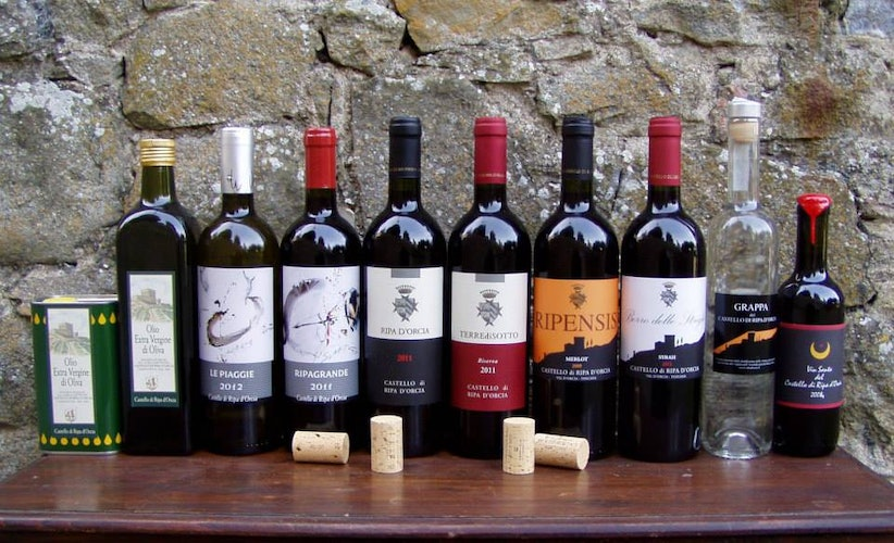 Don't forget to taste the wine & olive oil of Castello di Ripa d'Orcia