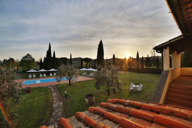 Fattoria Pagnana: Sunset near the pool