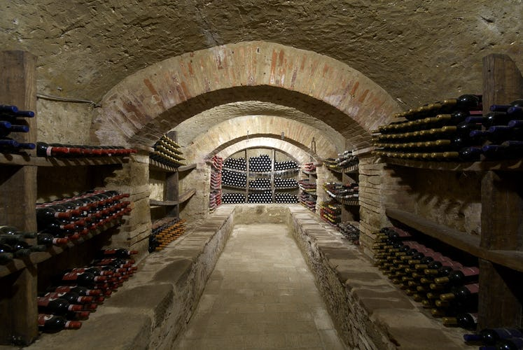 Wine Resort Fattoria Pogni & Terre del Bruno, the historic wine cellar for ageing wines