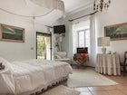 The White Room, also knowns as the bridale suite, is enchanting
