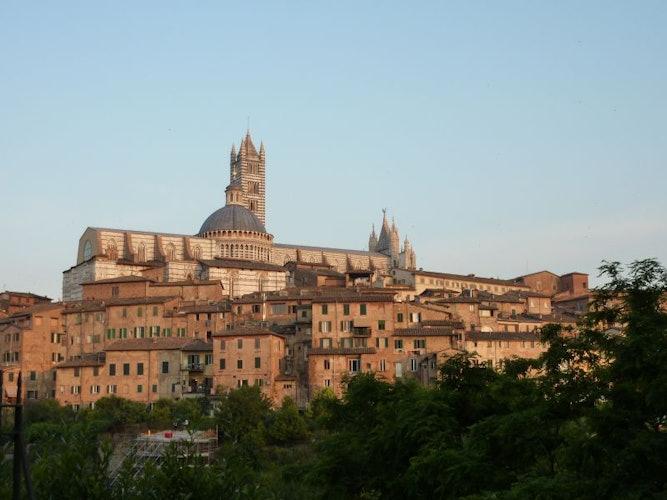 Palazzetto Rosso è situato vicino al Duomo ed alla Torre del Mangia