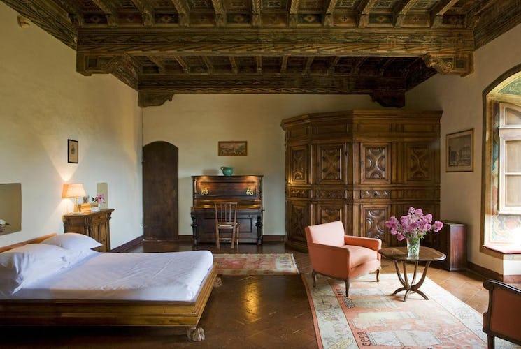 Hotel Torre di Bellosguardo - Soffitti con travi a vista e pavimenti in terracotta, tipici toscani
