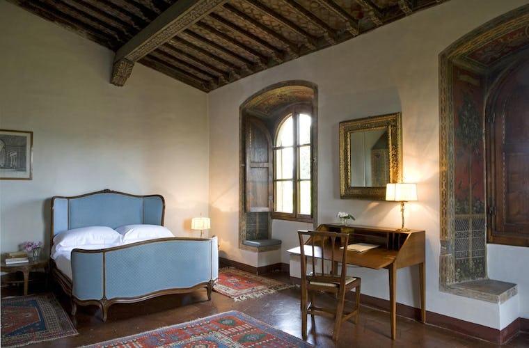 Hotel Torre di Bellosguardo - Camera matrimoniale, dove sono stati conservati elementi dell'architettura originale