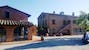 Typical brick Tuscan homes from near Montepulciano at Il Greppo