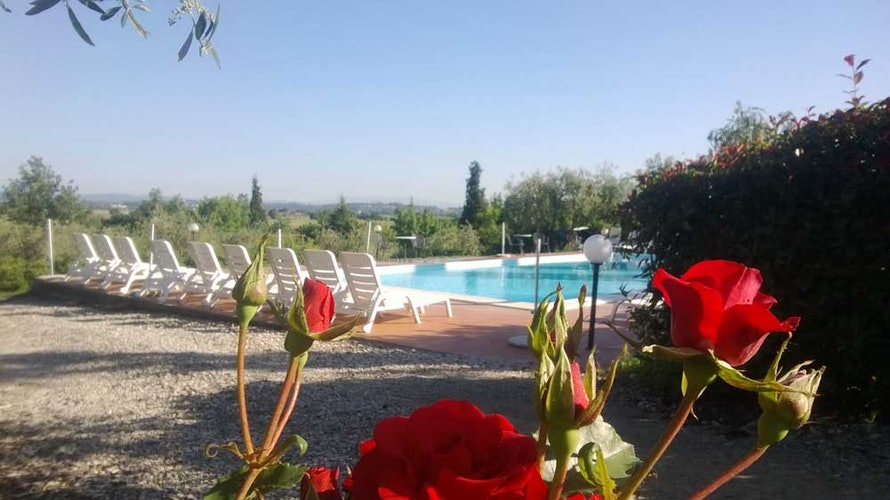 Relax at the pool or enjoy the well maintained gardens at Il Greppo