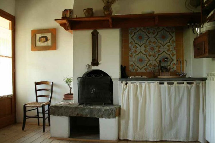 There are 5 self catering apartments, some with a fireplace