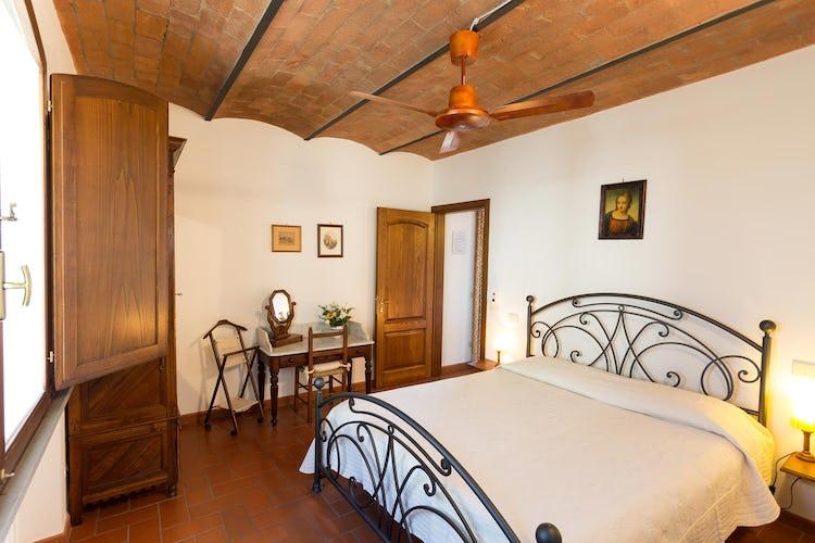 La Canigiana ville per vacanze nel Chianti: nelle camere da letto sono presenti i ventilatori a soffitto