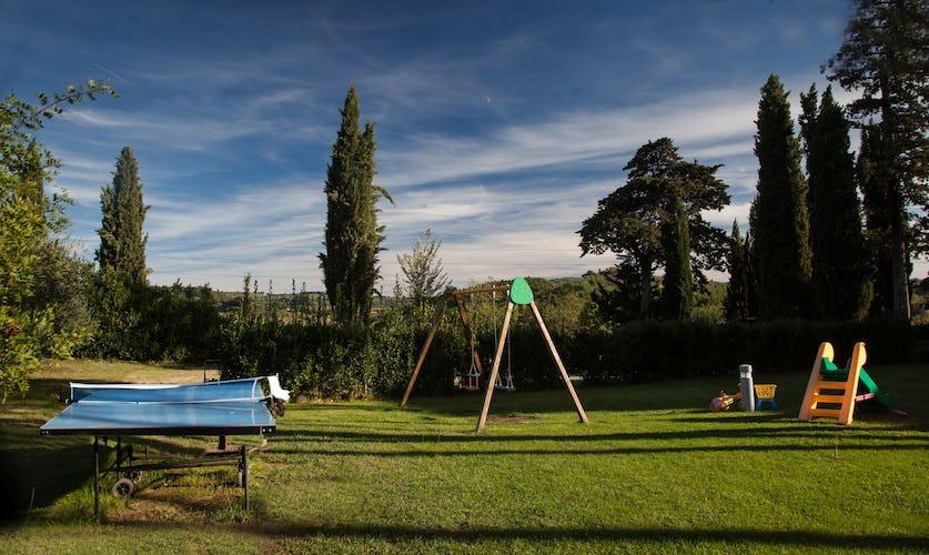 Il parco giochi pensato per gli ospiti più piccoli de La Certaldina: divertimento per ogni età