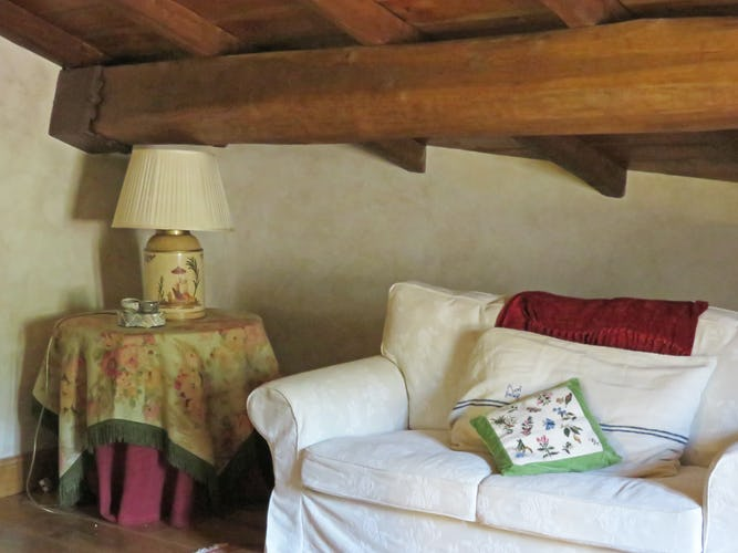 La Loggia Fiorita holiday villa rental and lovely wood beam ceilings