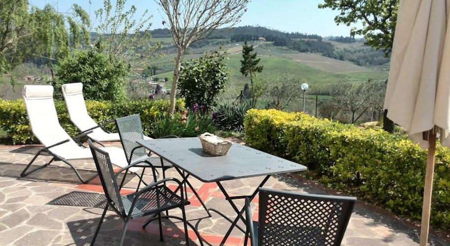 Vista sulle colline di Empoli, a due passi da Firenze