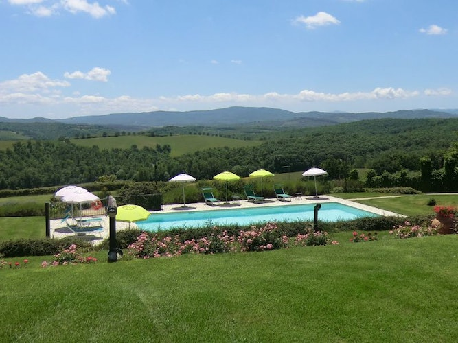 The panoramic view from the garden