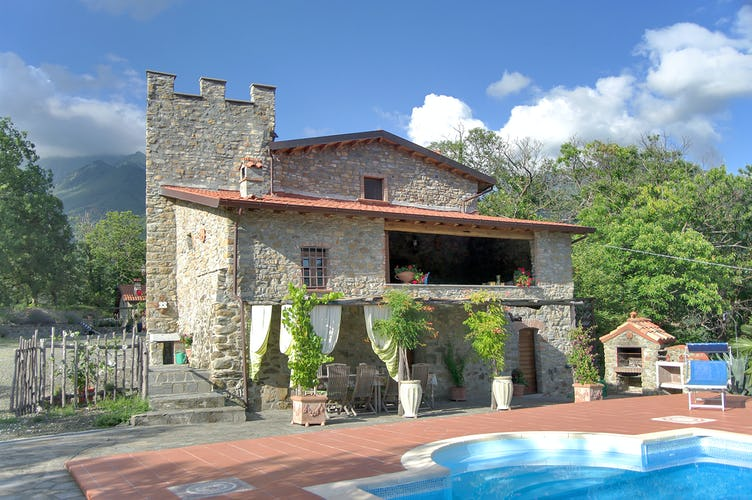 Montecastello - Rear View with Pool